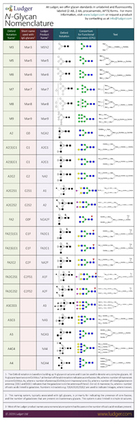Ludger N-Glycan Nomenclature Table